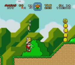 Super Mario World für Super Nintendo, Gameplay: Mario mit Yoshi